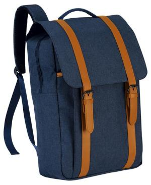 Exclusive Double Strap Design Backpack - Avail in: Grey Melange or Navy Melange