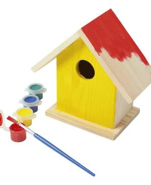Birdhouse With Painting Set - Avail in: Brown