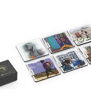 Afrique Glass Coasters - Multi - Colour