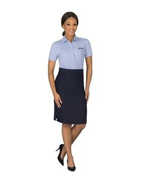 Ladies Short Sleeve Wall Street Shirt