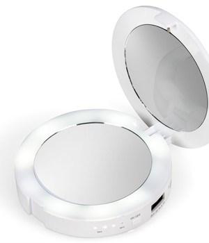 Livana Mirror & 5000mAh Powerbank - White