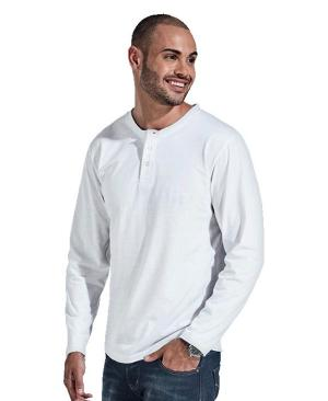 Barron 145g Henley Long Sleeve T-Shirt - Avail in: Black