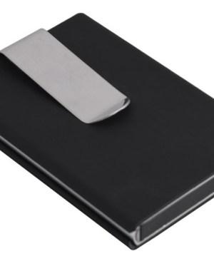 PU Auto Pop-Up Card Holder - Black