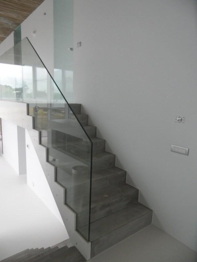 Pglas - Glazen balustrade trapleuning stalen glasklem helder glas 006