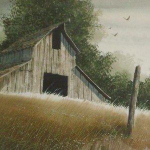 Old Barn Los Osos California. An acrylic painting I did as a student of R. Bradfor Johnson. (799x800)