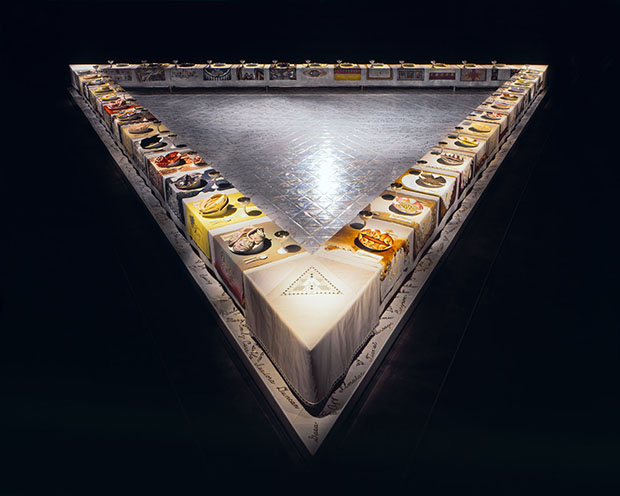 Image result for dinner party judy chicago