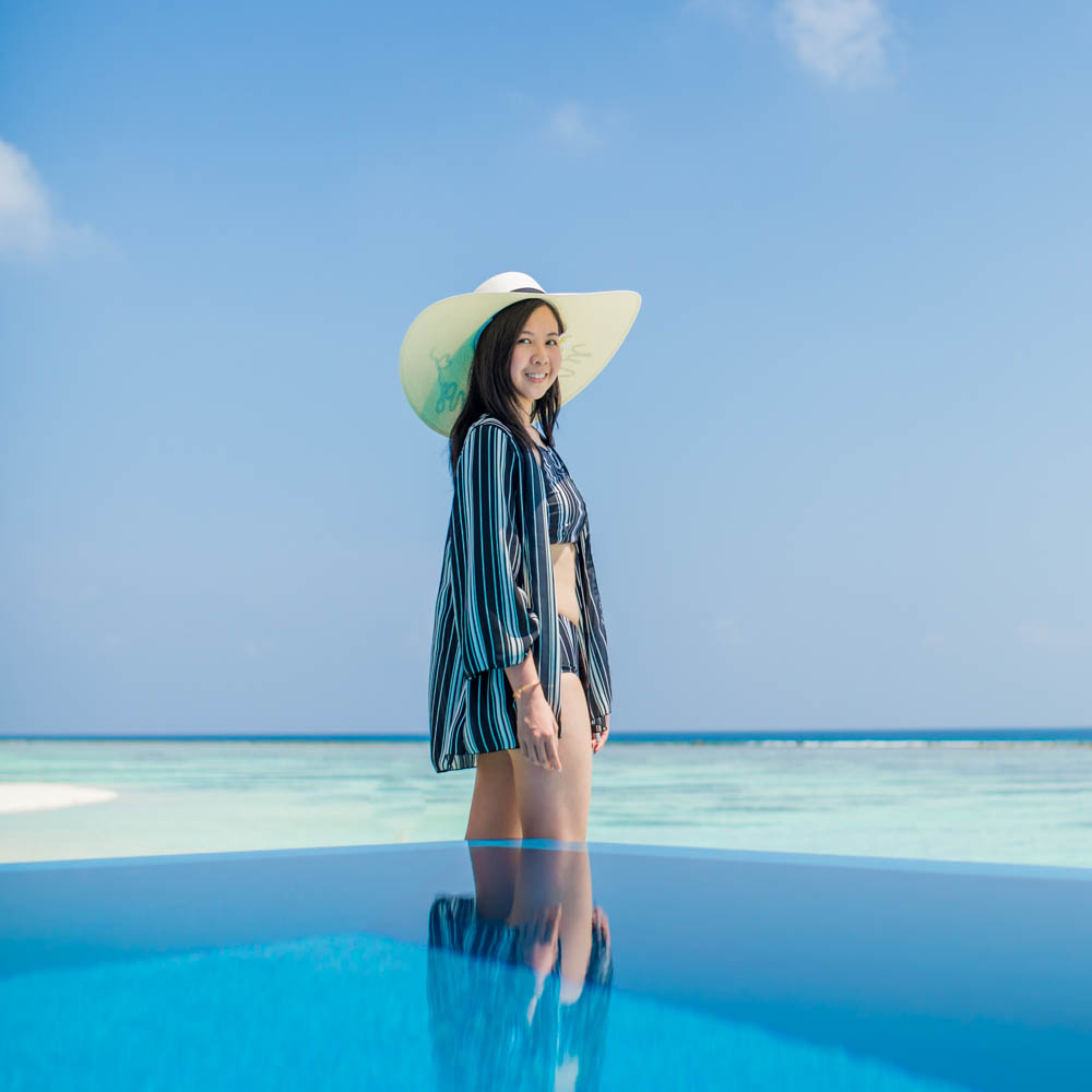 Leanne Shum Maldives photoshoot