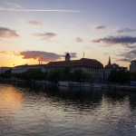 Festbrennweiten: Sonnenuntergang an der Jannowitzbrücke