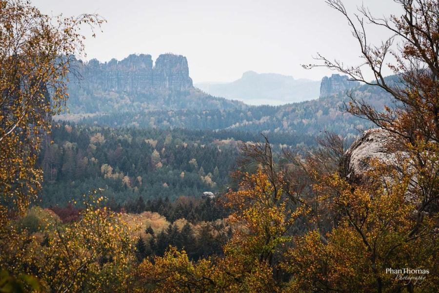 Lichtenhainer Wasserfall: Herbstlandschaft
