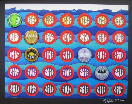 30 year series pin board