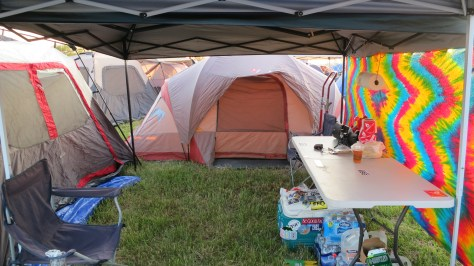 Truly, a 'before' picture of the campsite