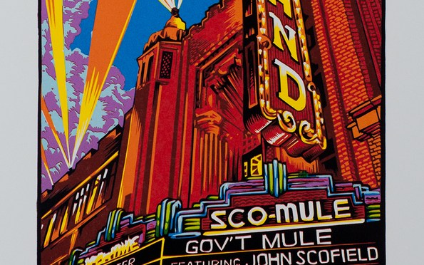 Artist Edition ScoMule Fox Theatre Print from Masthay Studios