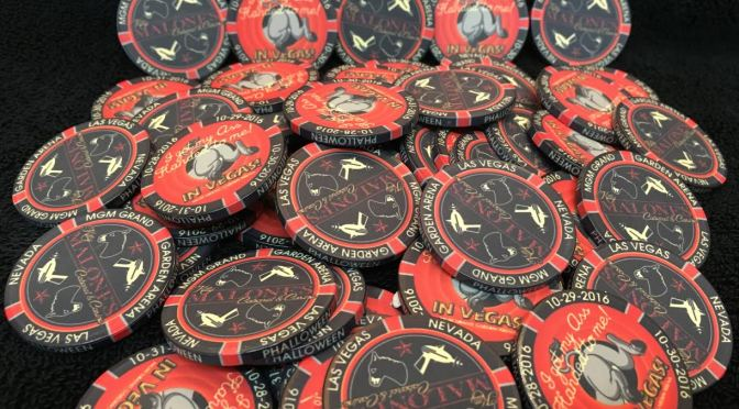 Ass Handed Las Vegas Halloween Poker Chips