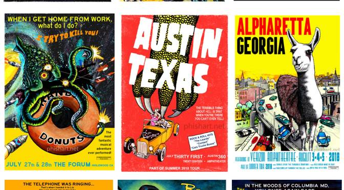 NEW! Thrilling Chilling Summer Tour Poster Series from Josean Rivera