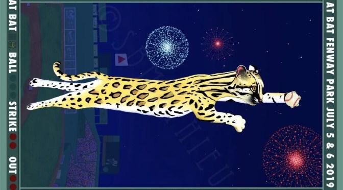 Ocelot Fenway Poster From Sharon Mathieu