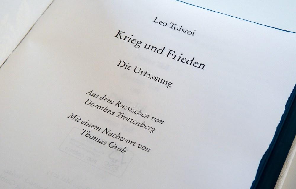 """[Bücherschatztruhe] Mein Unikat der Urfassung von Tolstois """"Krieg und Frieden"""""""