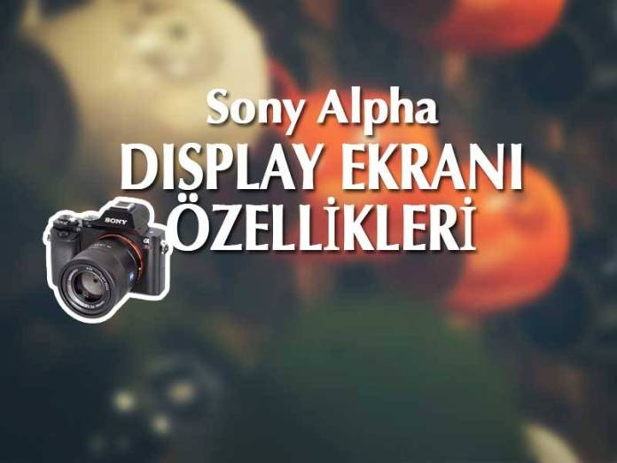 Sony Fotoğraf Makineleri Display Ekranı Özellikleri
