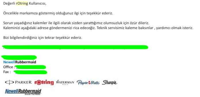 Rontring Türkiye Maili