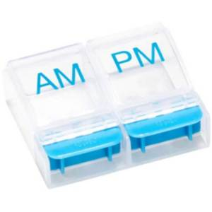 AM/PM Push-Button Pill Planner