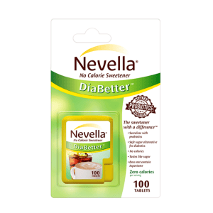 Nevella No Calorie Sweetener DiaBetter 100 Tablets