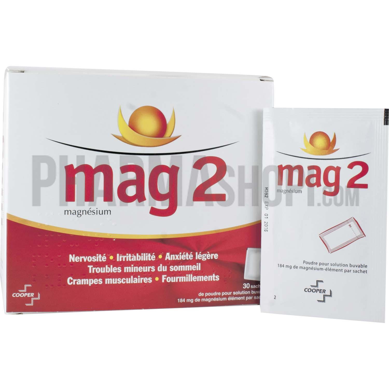 mag 2 poudre pour solution buvable en sachet boite de 30 sachets