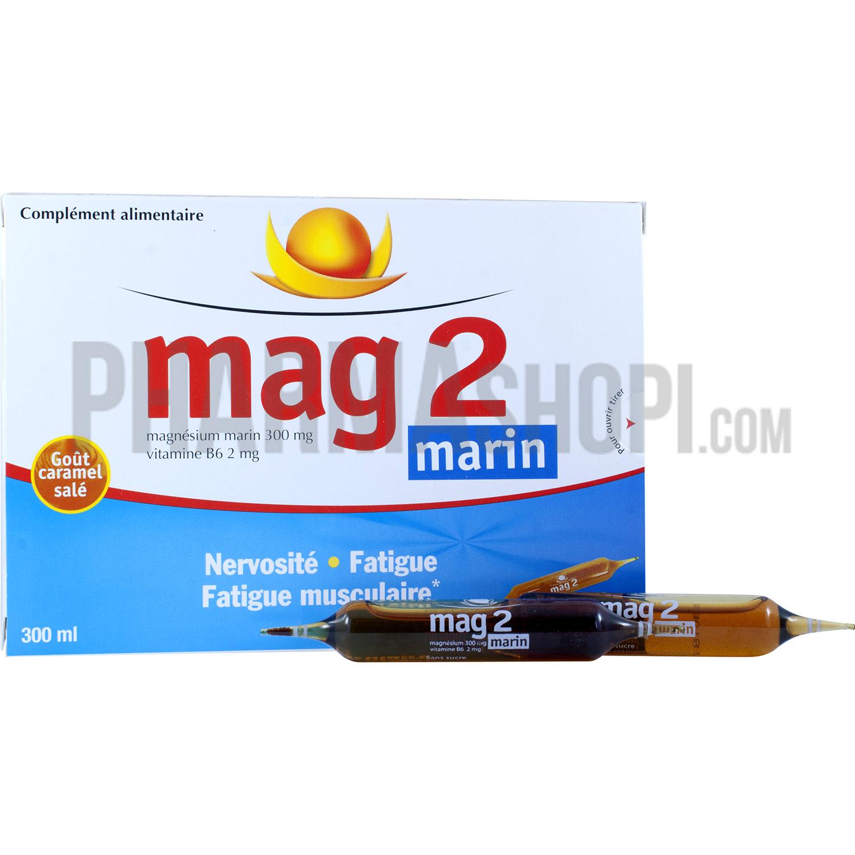 mag 2 marin nervosite et fatigue boite de 30 ampoules de 10 ml