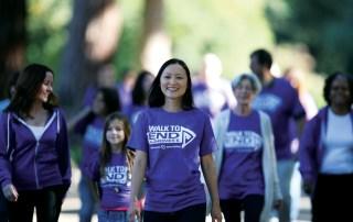 alzheimer's walk participant