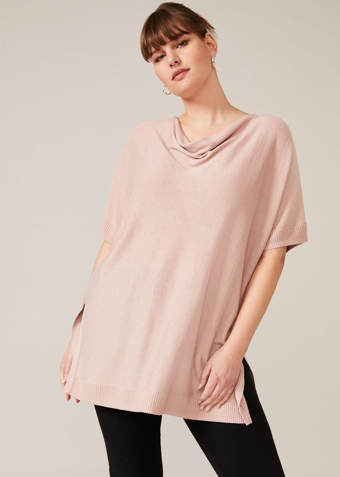 Trudy Cowl Neck Knit Top