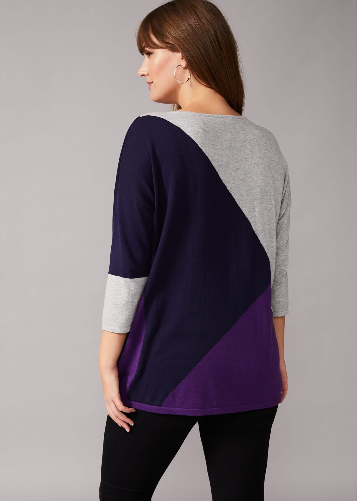Kitty Colour Block Knit Top