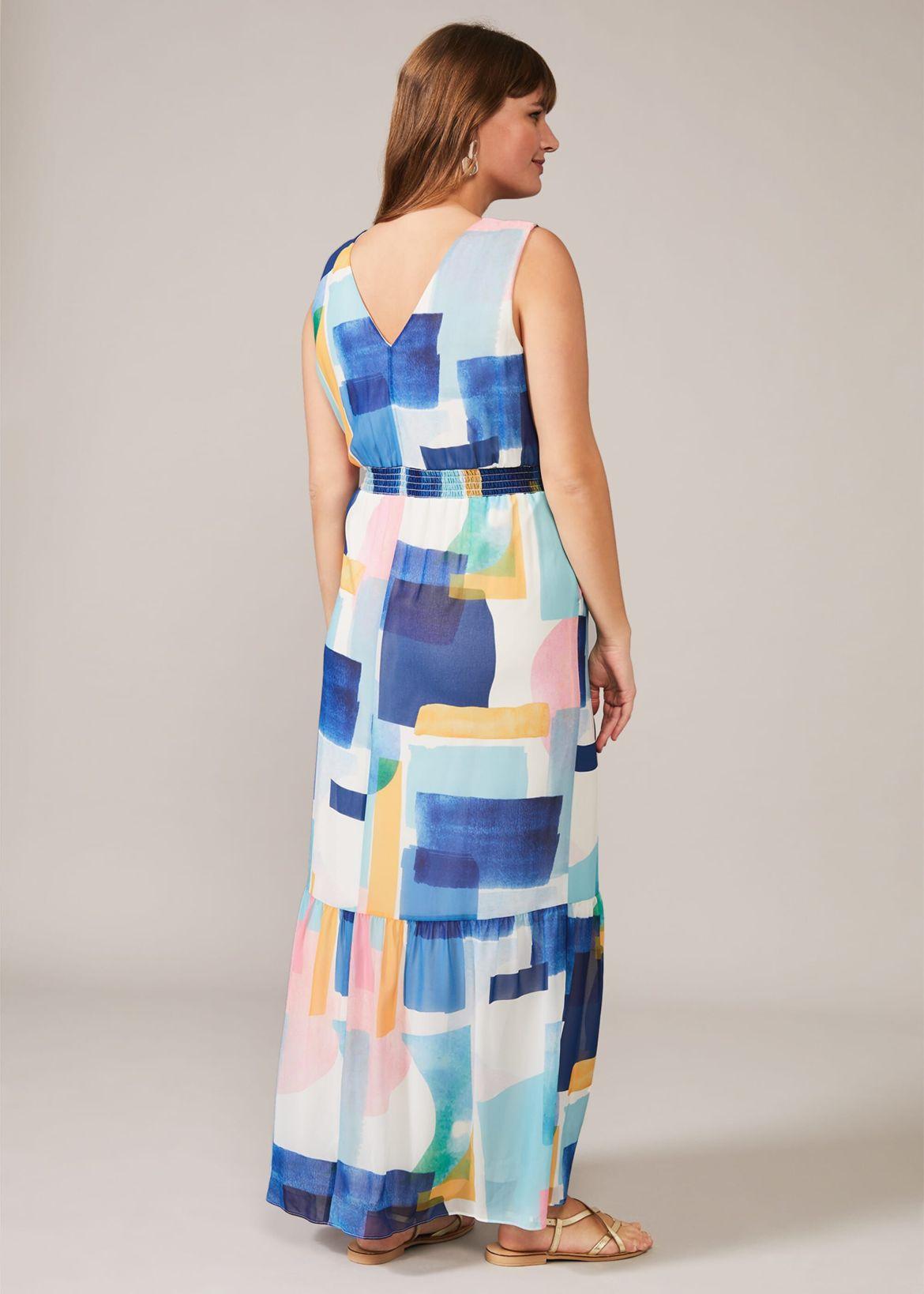 Eliza Abstract Print Maxi Dress