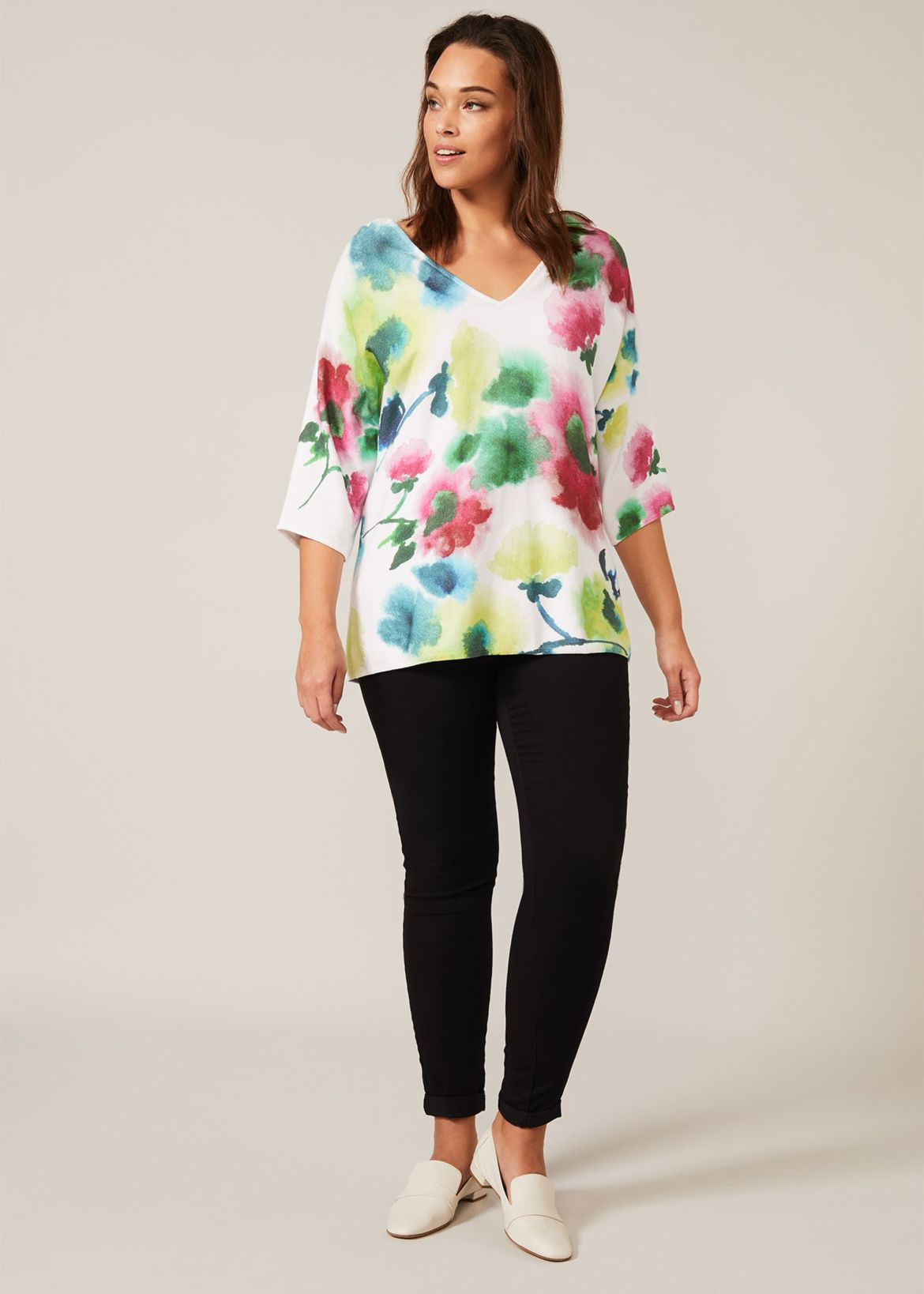 Taze Floral Knit Top