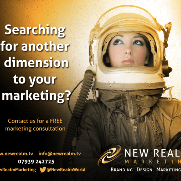 New Realm space girl advert