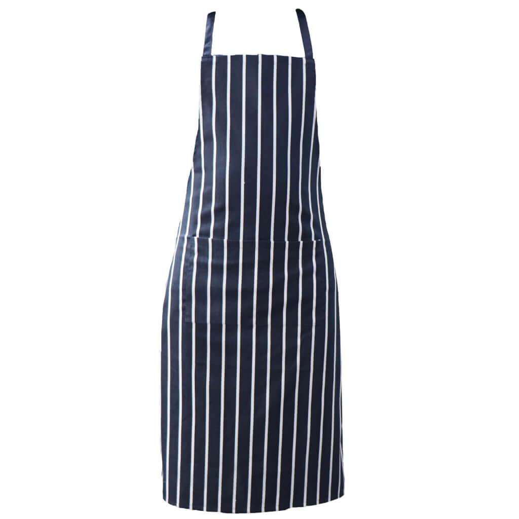 Striped Apron Blue