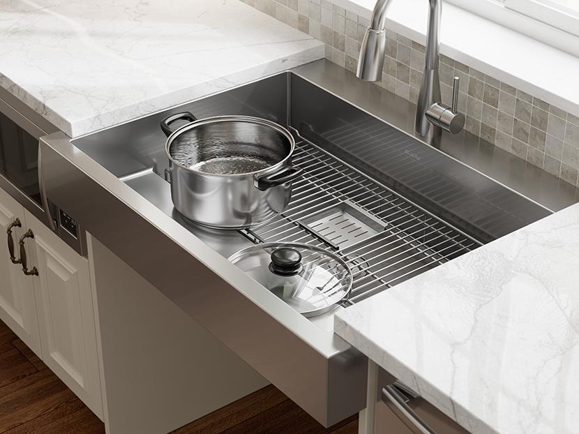 elkay ada dual depth stainless steel