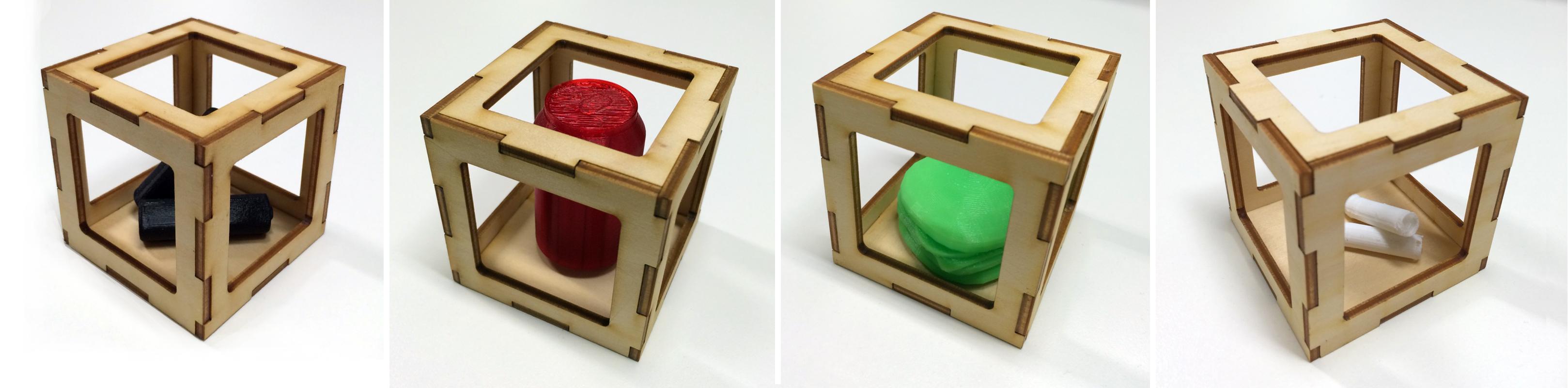 AR Marker + 3D Print Object + Laser cuts