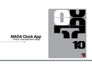 MADA clock – mobile application