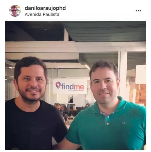 Diogo da FindMe e Danilo PHD em 2019