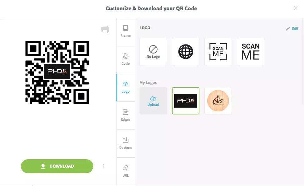 Customizando o QR Code
