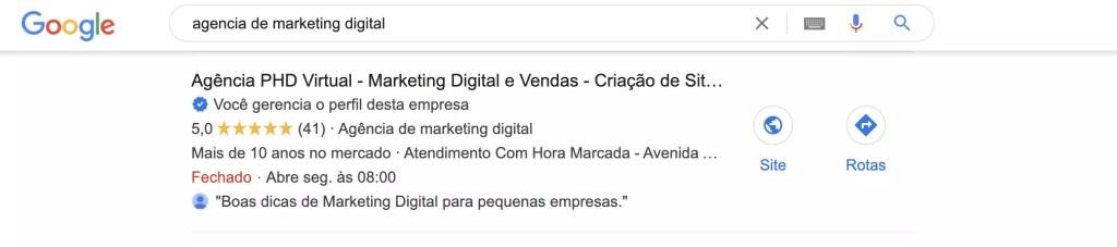 SEM - Resultado de Pesquisa Orgânica do Google Meu Negócio - Buscas Locais