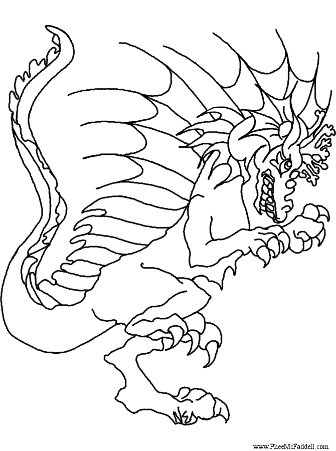 celtic dragon colouring pages