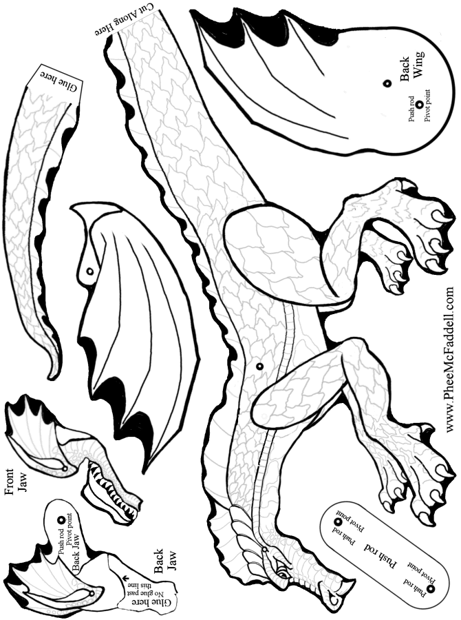 dragon  moving jaw coloring page