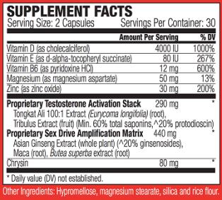 Spartagen Ingredients and Label