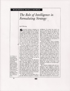 Intelligence & Strategy