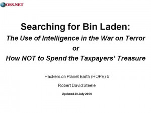Bin Laden, Intelligence, and National Security 2006