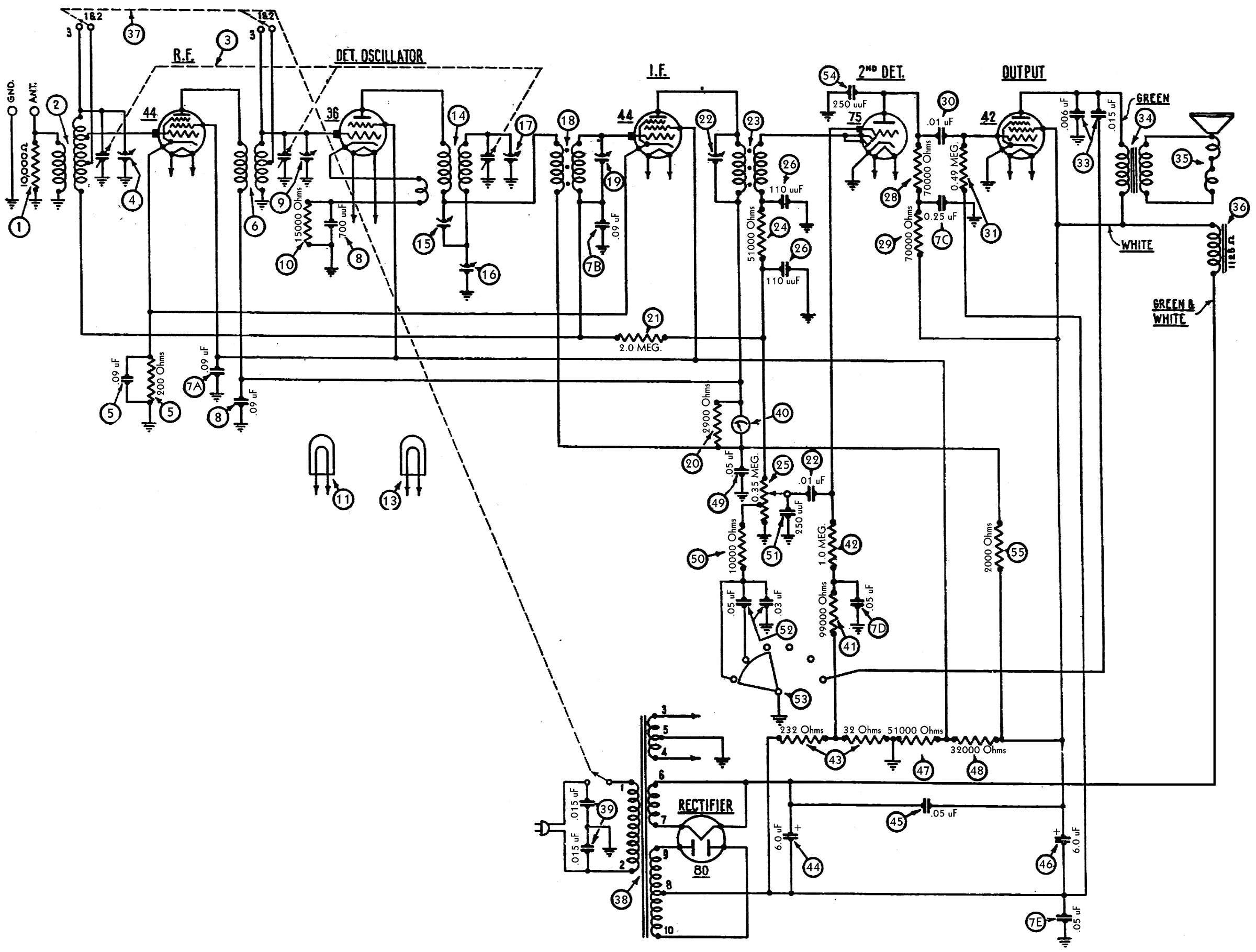 Bakelite Philco Block Resistor Wattage