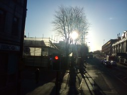 Taken November 23 Oxford Road Manchester in morning as BBC Building almost completely demolished.