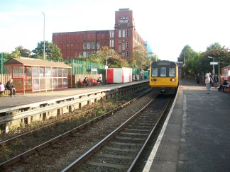 Shaw and Crompton Rail station, at time of closure of line for conversion to Metrolink