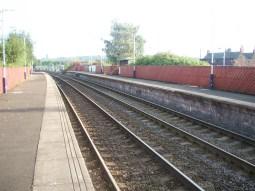 Hollinwood Rail station platform, at time of closure of line for conversion to Metrolink