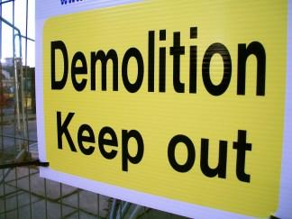 Demolition Sign, Former BBC Manchester Oxford Road site