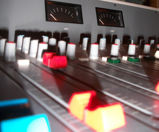 Mixing Desk close up by Phil Edmonds